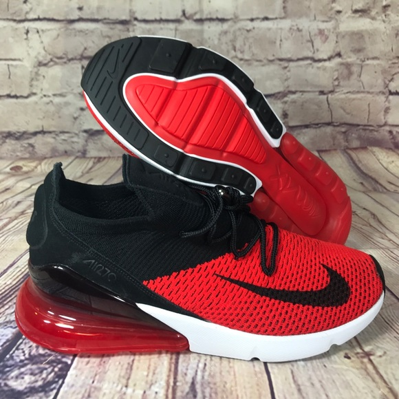 outlet store 94620 37eaf NIKE Air Max 270 Flyknit Bred Red/Black/White